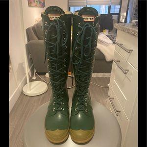 Hunter Women's Lace Up Rain Boots